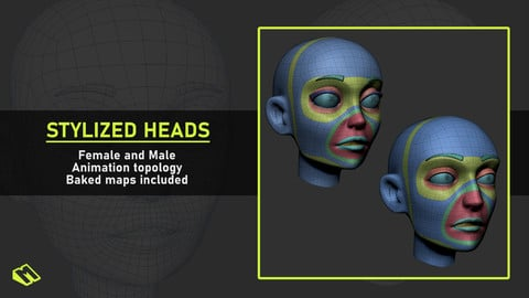 Stylized Heads Base Meshes
