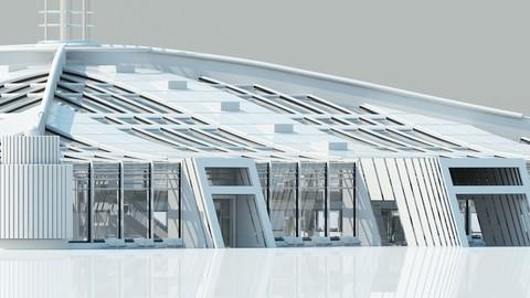 Futuristic Architectural Structure 2