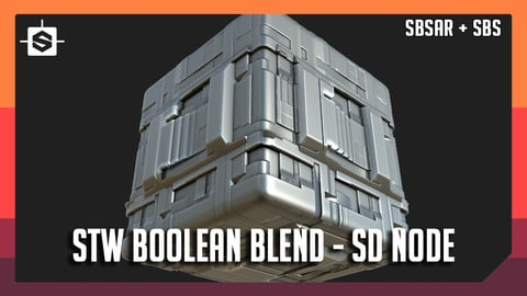 STW Boolean Blend - Substance Designer Node