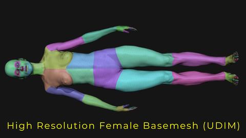 Female Basemesh for Film - UDIM