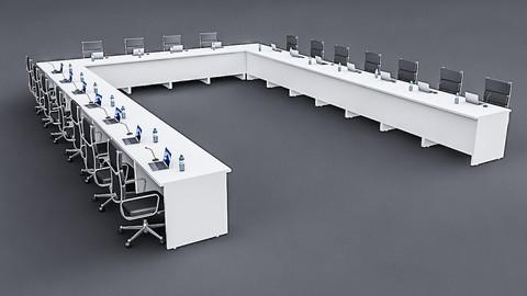 Modular Meeting table 02