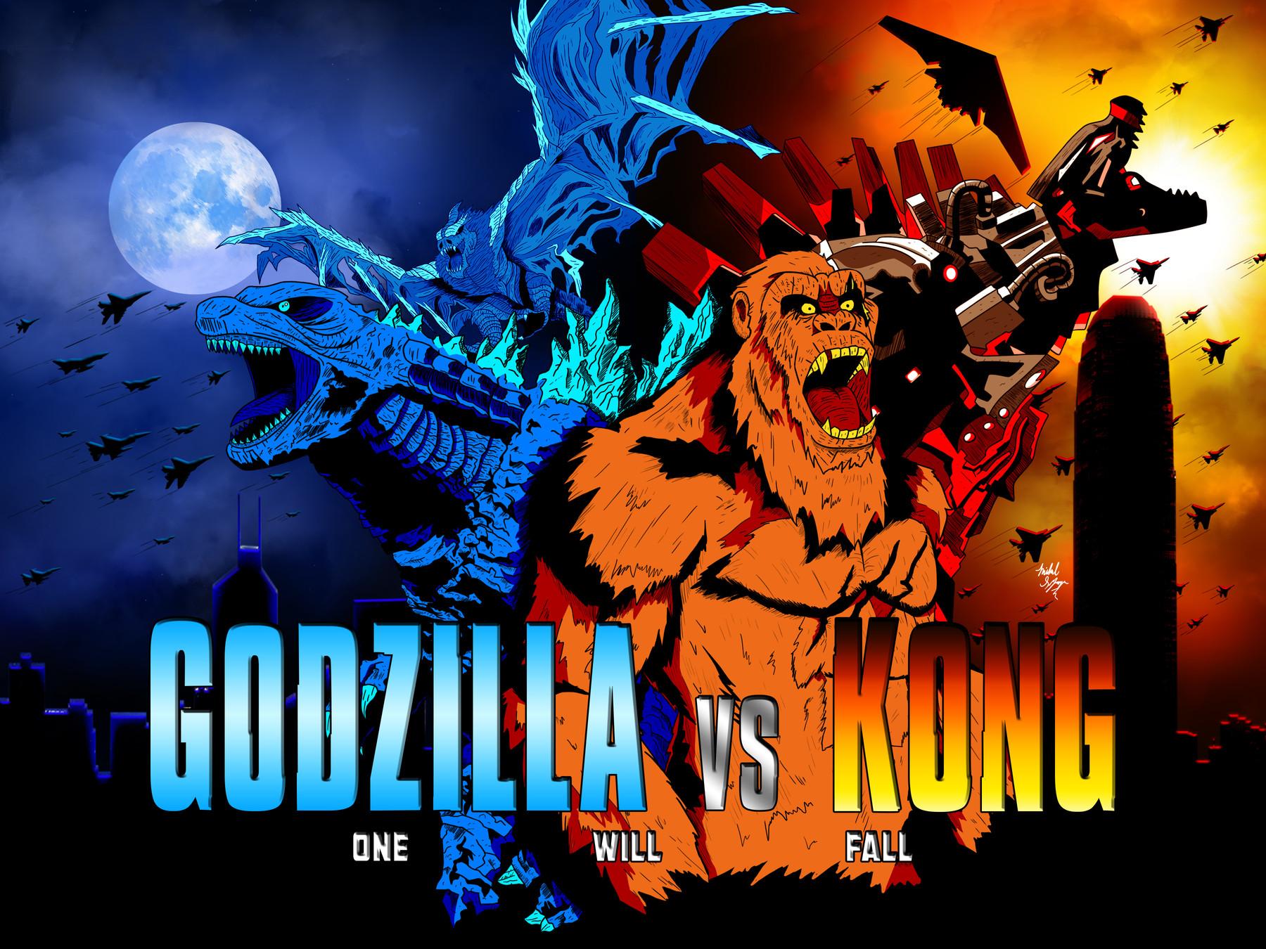 Artstation Godzilla Vs Kong Poster Concept Art Artworks