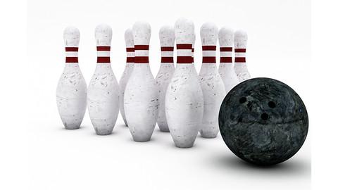 Bowling Ball & Pin Model
