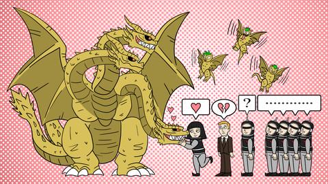 Happy Valentine's Day Ghidorah