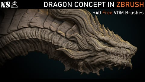 Dragon Concept in Zbrush