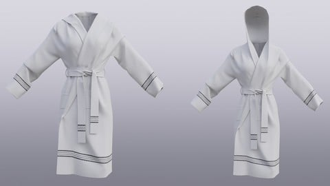 3d bathrobe with hood