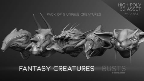 """Fantasy Creatures"" busts"