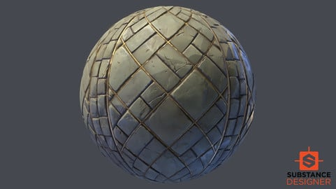 Substance Designer Stylized Floor Tile Texture