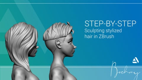Sculpted Character Hair in Zbrush
