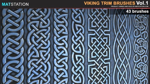 Viking Trim brushes/alphas. VOL1