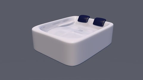 Hot Tub for 2 Person 3D Model