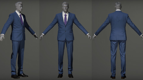 Male_S_Suit_Game_Assests_Bussiness_Suit_Working_Suit