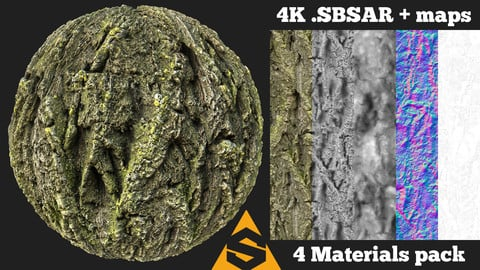 Tree Bark 8 Material Pack