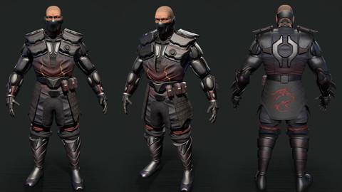 Cyborg Model 3D