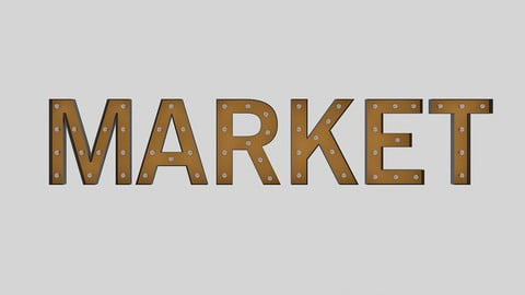 Market Sign With Bulb