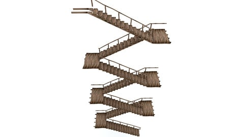 Old Wooden Staircase 02