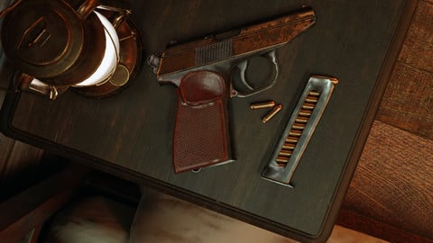 Makarov Gun - Asset