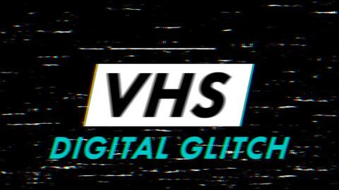 VHS - Digital Glitch Overlay