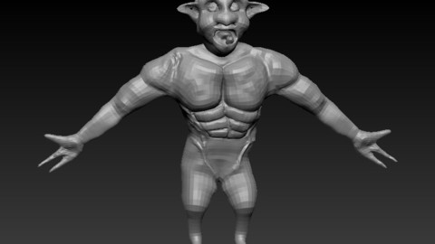 One tooth monster Sculpt (One tooth monster low poly included)