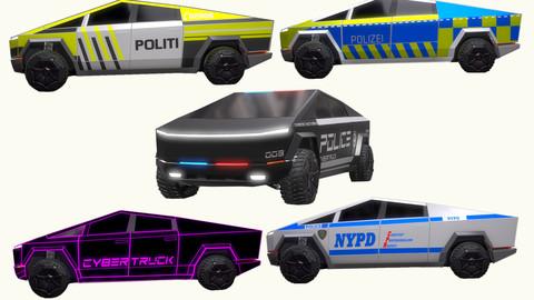 Tesla Cybertruck Police Pack 5 assets