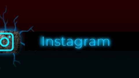 Instagram - animated social network badge