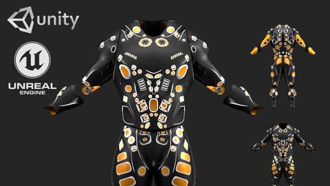 Scifi Suit - 3D Asset Game Model PBR - 3D model
