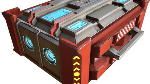 Sci-Fi box Low-poly