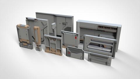 sci-fi Architecture kitbash 19