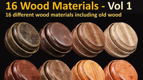 16 Wood Materials - Vol 1