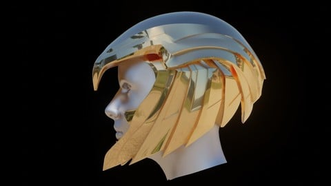 Wonder Woman Golden Eagle Helmet for Cosplay 3D print model 3D print model