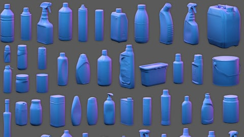 50 Plastic and Glass Containers