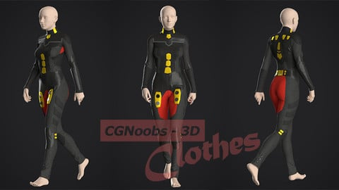 Si-Fi Future Suit - 38 Marvelous Designer and Clo3D