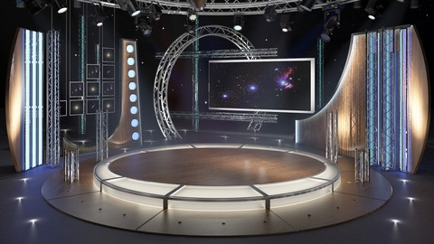 Virtual TV Studio Chat Set 23