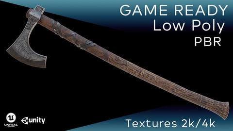 Old norse axe (Lowpoly-PBR-Gameready)
