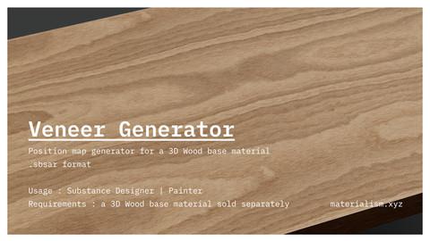 Veneer component for 3D Wood