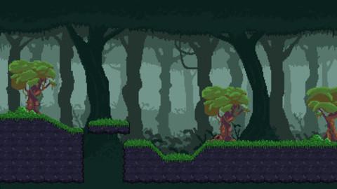 Mystic Forest 2D Pixel art Tileset