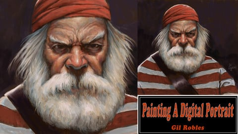 Painting A Digital Pirate Portrait