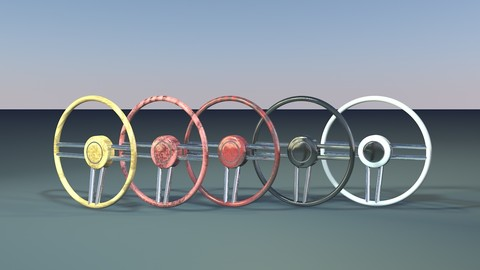Classic Steering Wheel 3D model