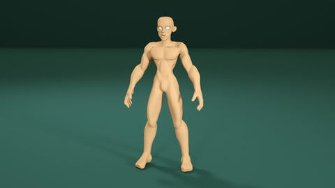 Male Character Base Model Sylized