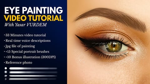 Eye Painting In Photoshop - Video Tutorial
