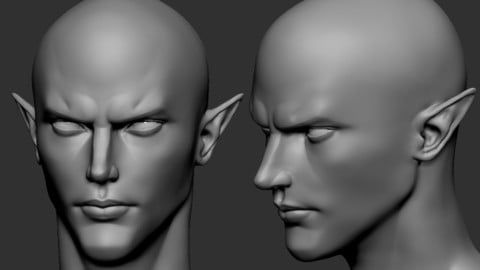 elf male head1