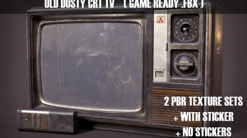 Old Dusty CRT TV