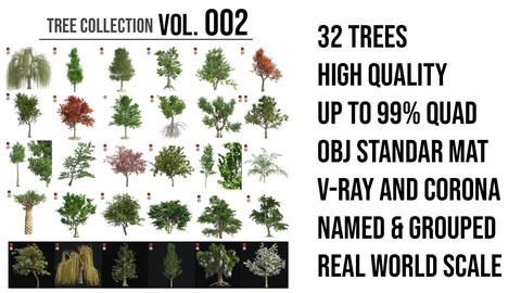 Tree Collection Vol 002 (32 Trees)