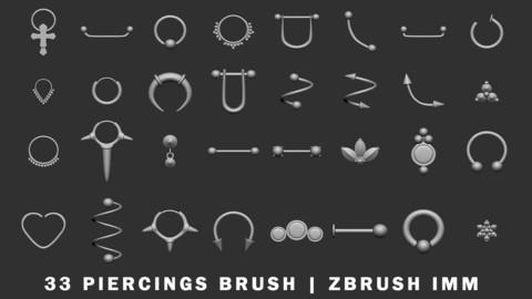 Piercings - zBrush IMM