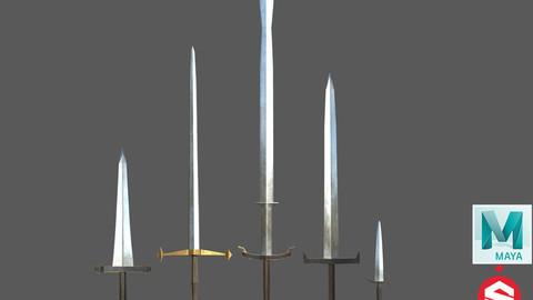 Weapon Bundle Swords & Dagger