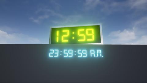 Digital Time and Alarm Clock (UE4 Asset Pack)