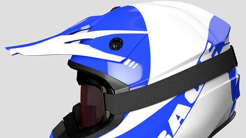 Helmet Off-Road and Goggles