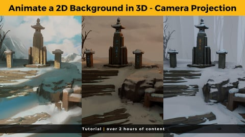 Animate a 2D Background in 3D using camera projection