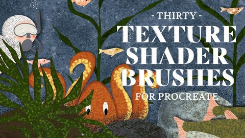 Texture Shader Brushes for Procreate