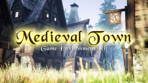 «Medieval Town Game Environment Kit» by mkaplunow